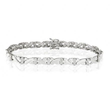 9K White Gold 0.30ct Diamond Bracelet, G1229